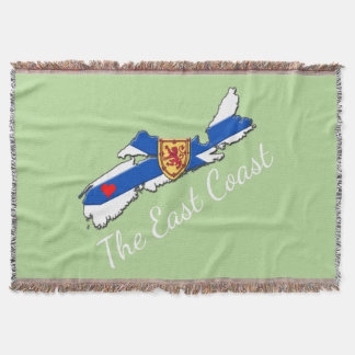 Love The East Coast Heart N.S. throw mint