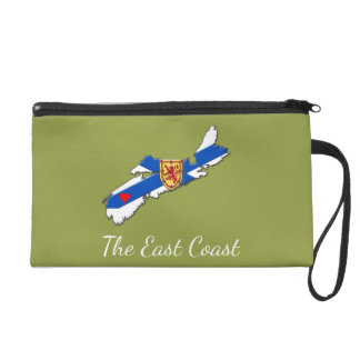 Love The East Coast Heart N.S.   Wristlet olive