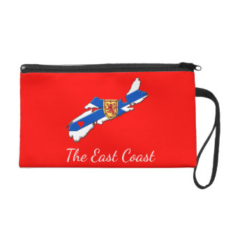 Love The East Coast Heart N.S.   Wristlet red