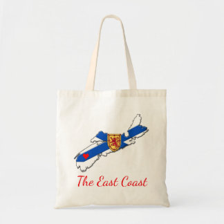 Love The East Coast  Heart Nova Scotia tote bag