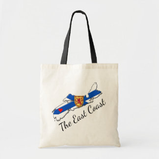 Love The East Coast  Heart Nova Scotia tote bag