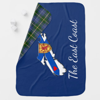 Love The East Coast  N.S. Receiving Blanket blue
