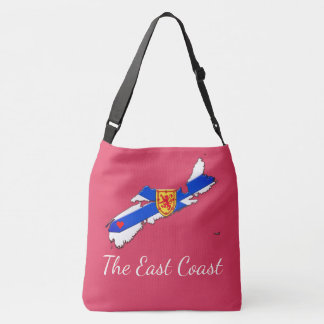 Love The East Coast  Nova Scotia Cross Bag pink