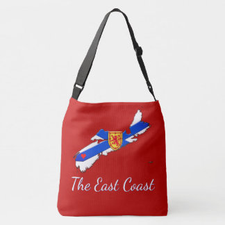 Love The East Coast  Nova Scotia Cross Bag red