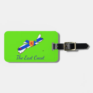 Love The East Coast Nova Scotia luggage tag green
