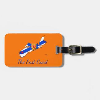 Love The East Coast Nova Scotia luggage tag orange