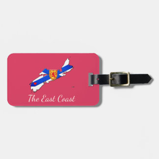 Love The East Coast Nova Scotia luggage tag pink
