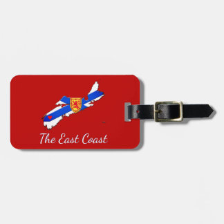 Love The East Coast Nova Scotia luggage tag red