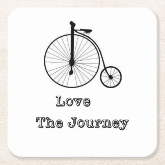 Love The Journey Square Paper Coaster