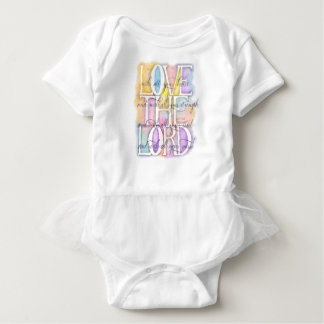 Love The Lord-Luke 10:27 baby Baby Bodysuit