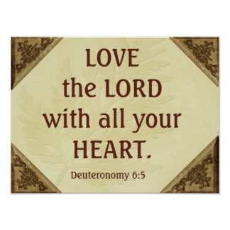 Love the Lord - Scripture quote - art print