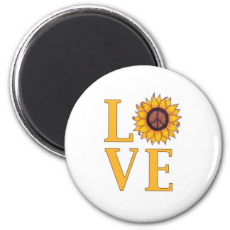 Love the Peaceful Sunflower Magnet