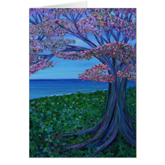 Love & the Pink Tree of Hearts Card