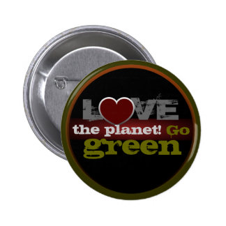 Love the Planet Go Green Button