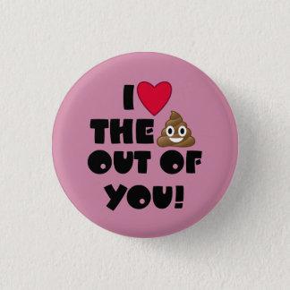 Love The Poop Emoji 1 Inch Round Button