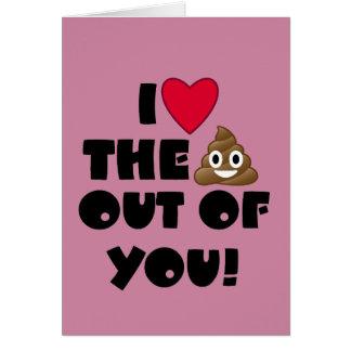 Love The Poop Emoji Card