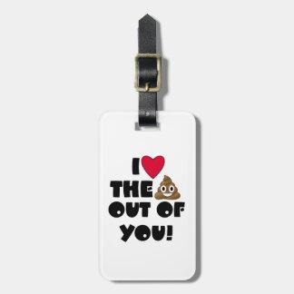 Love The Poop Emoji Luggage Tag