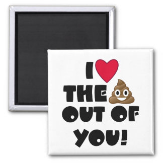 Love The Poop Emoji Magnet