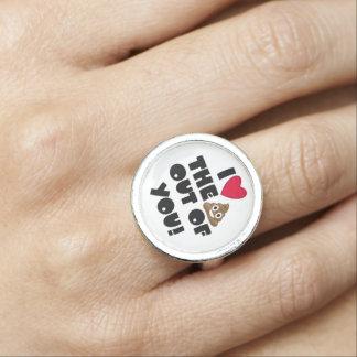 Love The Poop Emoji Photo Ring