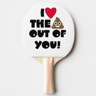 Love The Poop Emoji Ping Pong Paddle