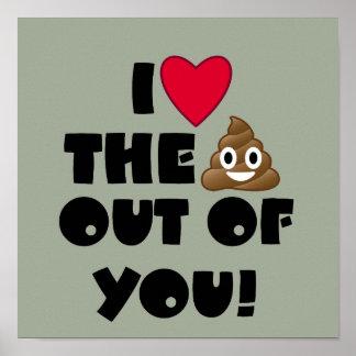 Love The Poop Emoji Poster