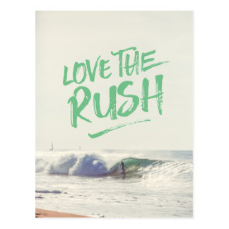 Love the Rush Dry Brush Typography Photo Template Postcard