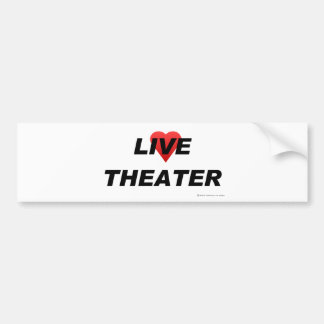 Love Theater Bumper Sticker