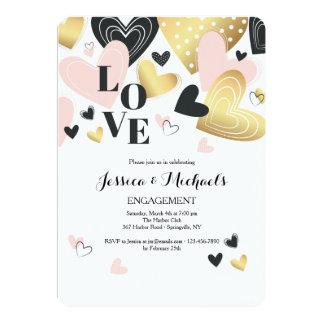 Love These Hearts Invitation
