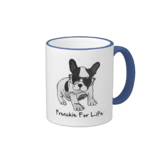 Love Those Cute Little French Bulldogs Ringer Coffee Mug