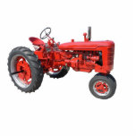 love those old red tractors photo sculpture magnet