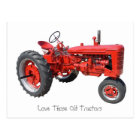 Love Those Old Tractors Postcard