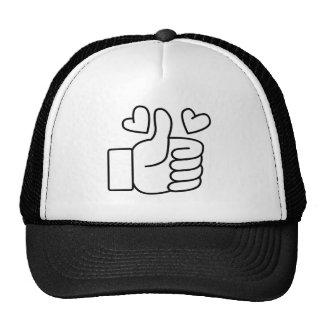Love Thumbs Up Trucker Hat