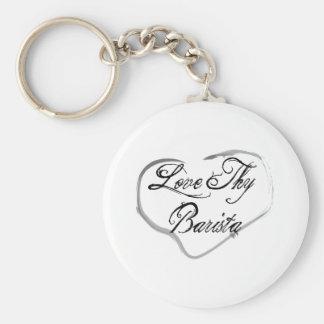 Love Thy Barista Keychain