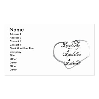 Love Thy Insulation Installer Business Card