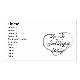 Love Thy Speech Language Pathologist Double-Sided Standard Business Cards (Pack Of 100)