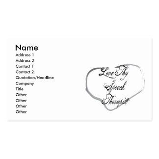 Love Thy Speech Therapist Double-Sided Standard Business Cards (Pack Of 100)