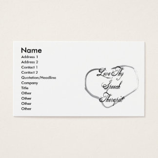 Love Thy Speech Therapist Business Card