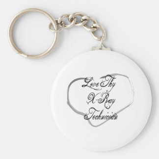 Love Thy X-Ray Technician Basic Round Button Keychain