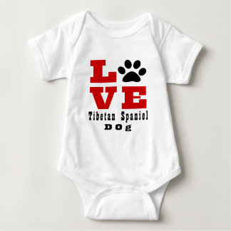 Love Tibetan Spaniel Dog Designes Baby Bodysuit