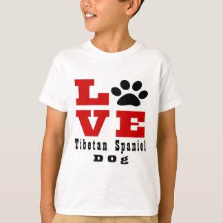Love Tibetan Spaniel Dog Designes T-Shirt