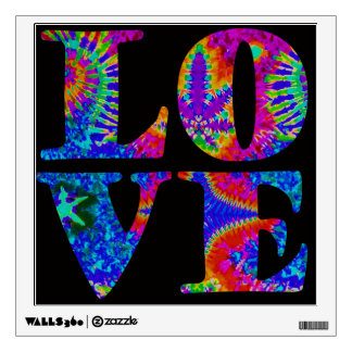 LOVE - tie-dye, wall decal