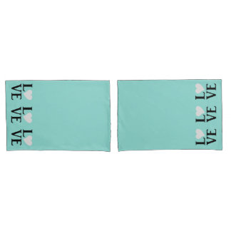 Love Tiffany Inspired Wedding Graduate Pillowcases