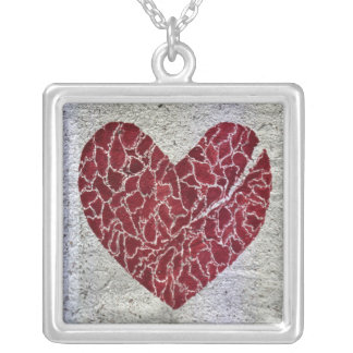 Love til it hurts silver plated necklace