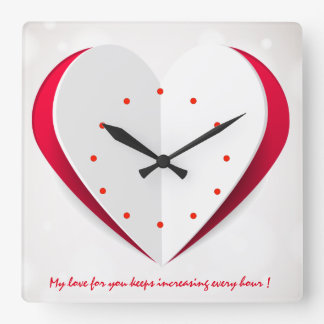 Love Time Book Heart Shape Wall Clock
