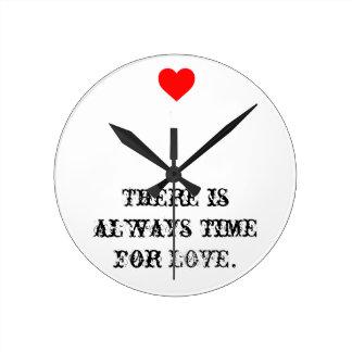 Love time wall clock