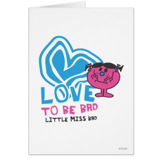 Love To Be Bad   Deformed Heart Greeting Card