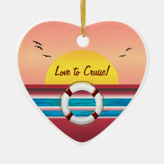 Love to Cruise Sunset - Your Photo Personalized Ceramic Ornament