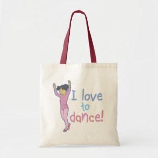 Love To Dance Ballerina Tote Bag