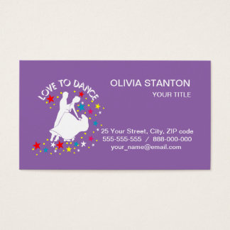 Love to dance business card