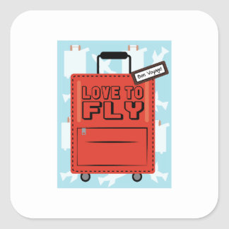 Love to Fly Square Stickers